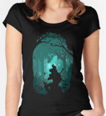 Camiseta entallada de cuello redondo Zelda - Ocarina en el bosque