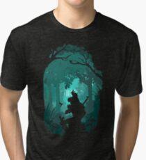 Zelda - Ocarina in the Woods Tri-blend T-Shirt
