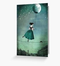 Moonwalk Greeting Card