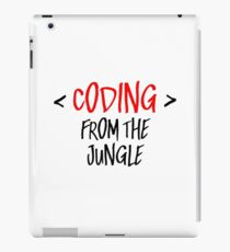 Coding from the jungle iPad Case/Skin