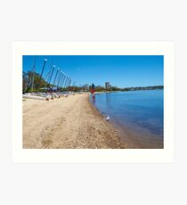 South Perth beach and catamaran hire Art Print