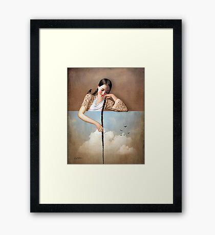 Touch The Sky (Rapunzel) Framed Print