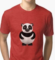 Cartoon Panda Tri-blend T-Shirt