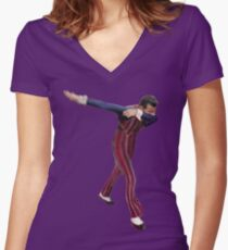 robbie rotten Women's Fitted V-Neck T-Shirt