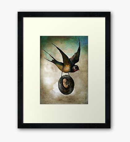 Precious flight Framed Print