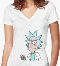 Rick school Women's Fitted V-Neck T-Shirt