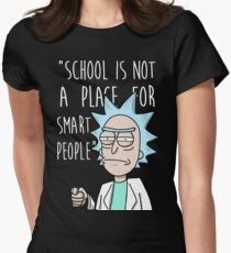 Rick school Womens Fitted T-Shirt