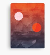 Star Wars A New Hope inspired artwork two suns Canvas Print
