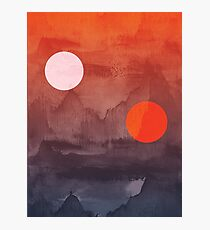 Star Wars A New Hope inspired artwork two suns Photographic Print