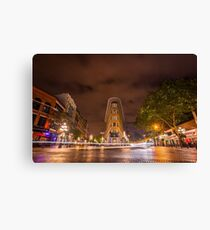 Gastown, Vancouver - Night Time Landscape Canvas Print