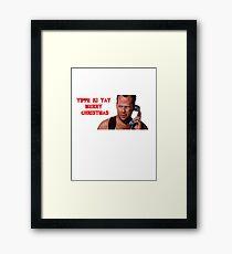 die hard merry christmas Framed Print