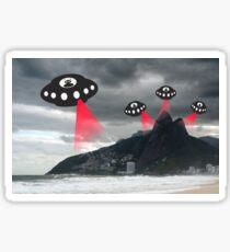 Alien invasion, Rio de Janiero Sticker
