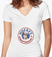Where's heathrow? Women's Fitted V-Neck T-Shirt
