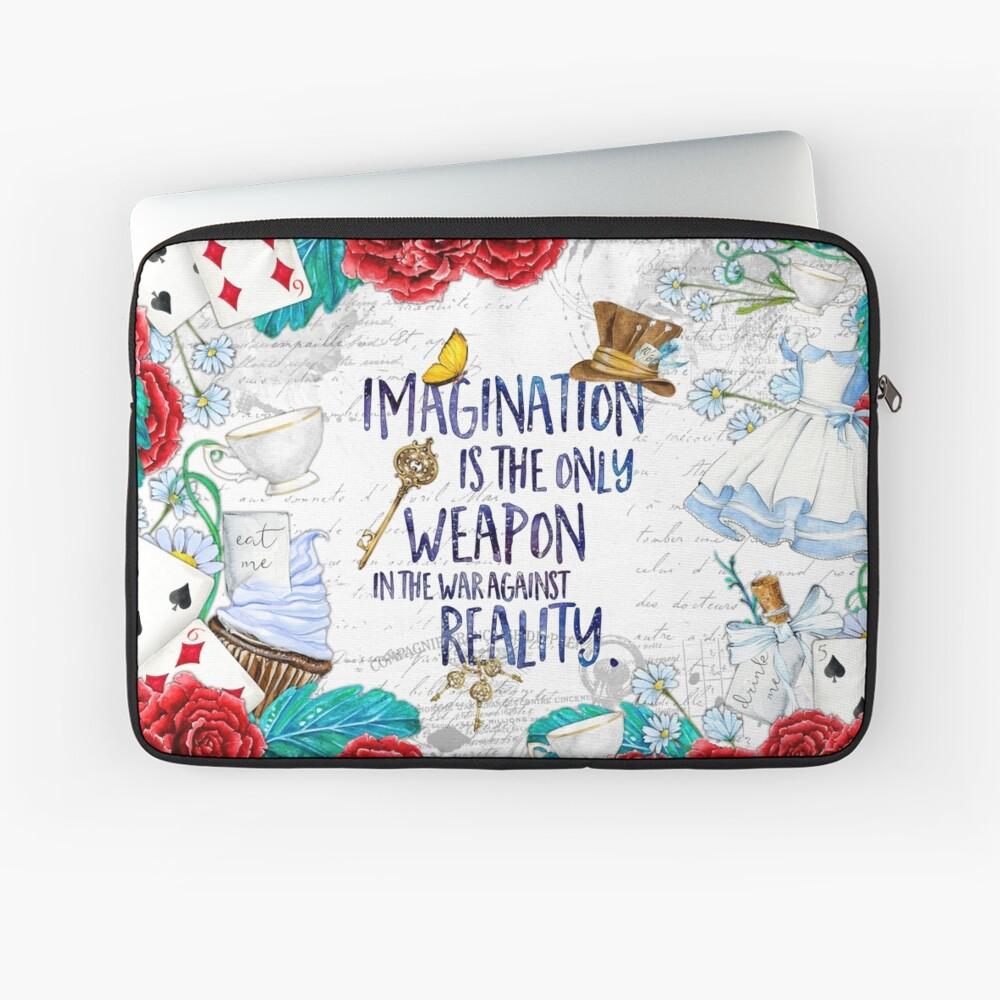 Alice in Wonderland - Imagination Laptop Sleeve Front