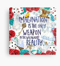 Alice in Wonderland - Imagination Metal Print