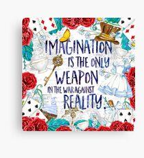Alice im Wunderland - Fantasie Leinwanddruck