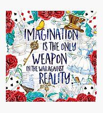 Alice im Wunderland - Fantasie Fotodruck