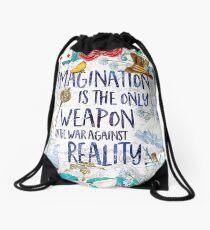 Alice in Wonderland - Imagination Drawstring Bag