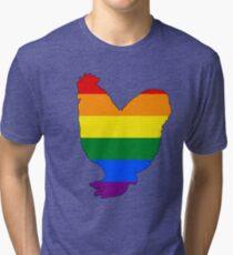 Rainbow Chicken Tri-blend T-Shirt