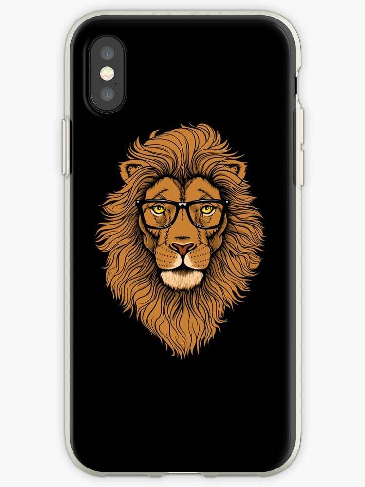 Cool Hipster Lion with Glasses hipster lion - lion graphic  by Logia Merch