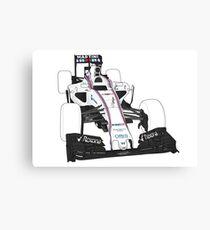 Racing Stripes F1 car Canvas Print