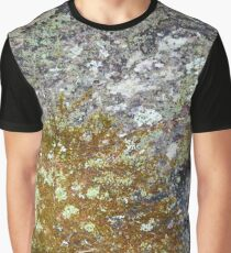 Lichen and moss on fallen tree  Graphic T-Shirt