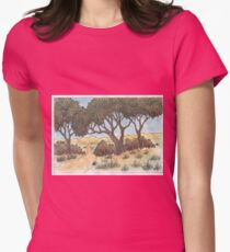 Autumn nature Womens Fitted T-Shirt