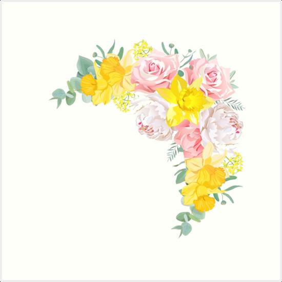 Laminas Artisticas Marco Floral Brillante Feliz Del Vector Con La