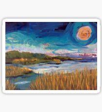 daytime moon Sticker