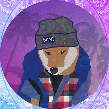 Vaporwave Dog In Flannel Aesthetic by youstiffbrah