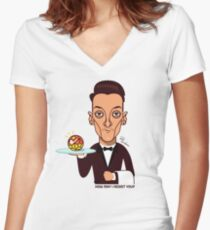 How may I assist you? Women's Fitted V-Neck T-Shirt