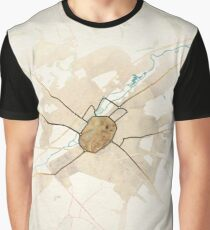 Map of the City of Canterbury Graphic T-Shirt