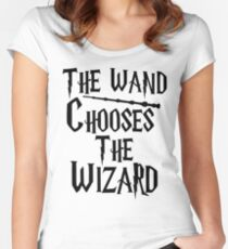 The wand chooses the wizard Women's Fitted Scoop T-Shirt