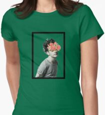 flower censored. Womens Fitted T-Shirt