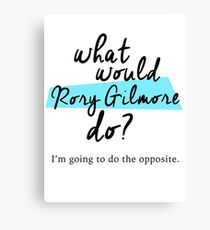 What would Rory Gilmore do? Canvas Print