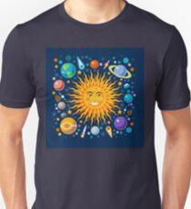 Solar System smiling sun universe T-Shirt