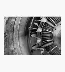 Closeup of a jet engine Photographic Print