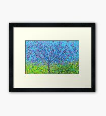 pink and purple tree Framed Print