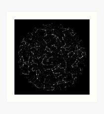 Sternbild Sternkarte der nördlichen Hemisphäre Kunstdruck