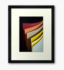 Colourful strips of cardboard  Framed Print