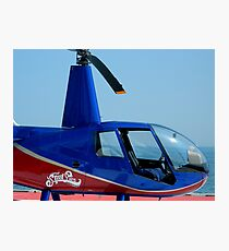 Steel Pier Copter Ride Photographic Print