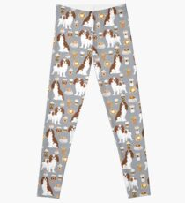 Cavalier King Charles Spaniel pet portrait dog breed custom dog art pet friendly dogs Leggings