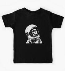 Monkey in Space. Funny Astronaut Chimpanzee  Kids Tee