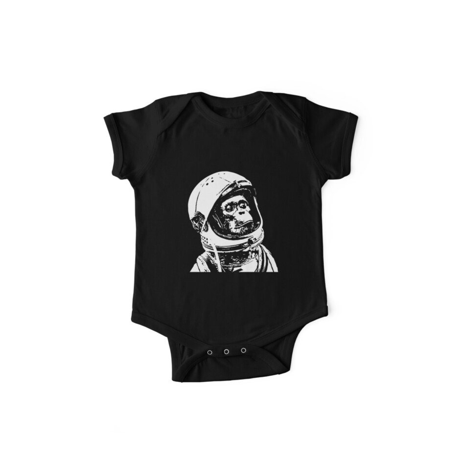 fd037e071 Monkey in Space. Funny Astronaut Chimpanzee