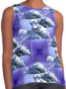 Storm Clouds And Lightning Abstract Design Contrast Tank