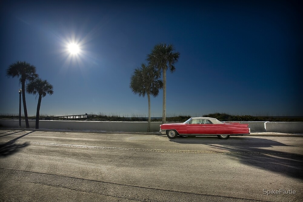The Red Cadillac by SpikeFlutie