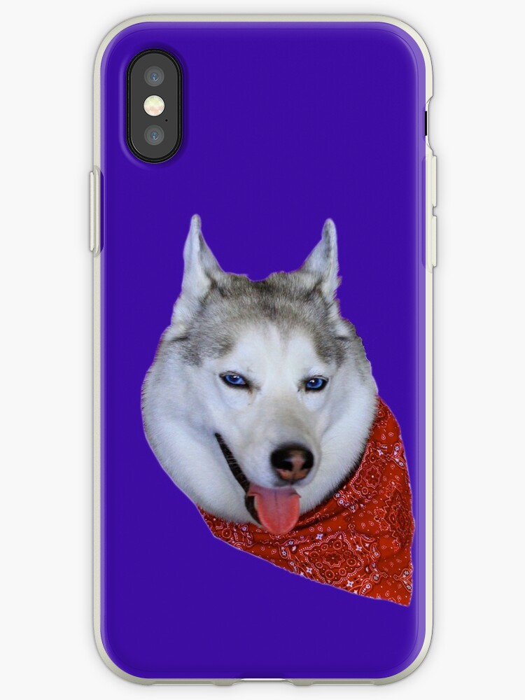 buy popular 0a497 e7a40 'Smiling Husky with Red Bandana' iPhone Case by May Finch