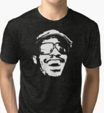 stencil Stevie Wonder Tri-blend T-Shirt