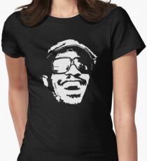 stencil Stevie Wonder Women's Fitted T-Shirt