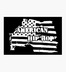 American Hip Hop (White) Photographic Print